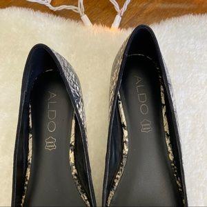 Aldo Shoes - Aldo Snake Print Pointed Toe Loafers 7
